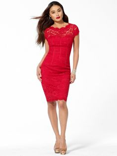 Red Lace Cocktail Dress  Cocktail Dresses 2016