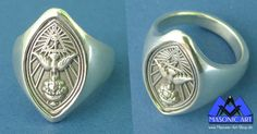 Masonic Art, Aleister Crowley, Pentacle, Crystal Ball, Occult, Runes, Magick, Mystic, Gemstone Rings