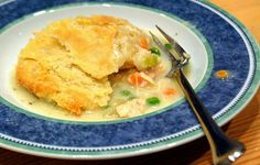 I found this chicken pot pie recipe when I was looking for a one-crust recipe, only because I only had one pie shell. It turns out, you make the one crust (easy), which you form over the top of a casserole dish. I added mushrooms, but followed everything else. You can also use leftover shredded chicken. Delicious...