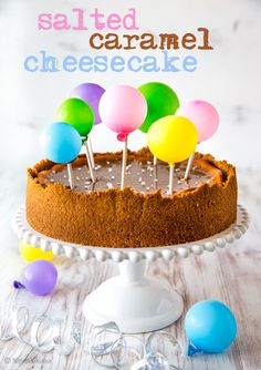 Salted Caramel Cheesecake, Cheesecakes, A Food, Cake Decorating, Recipies, Cookies, Baking, Breakfast, Party Ideas
