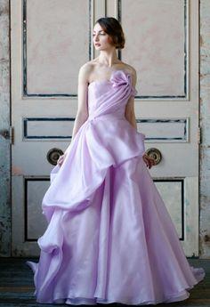 Tendências noivas 2015 - cores | vestio de noiva violeta de Sareh Nouri 2015