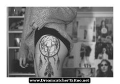 Dreamcatcher Tattoos On Leg 21 - http://dreamcatchertattoo.net/dreamcatcher-tattoos-on-leg-21/