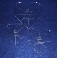 "1//8/"" Clear Acrylic Laser Cut Quilting Templates Hexagon 2,3,4,5 inch set"