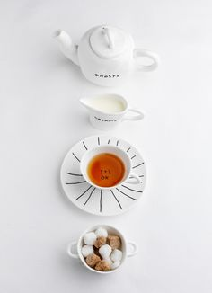 Artist David Shrigley has created 245 drawings and a range of illustrated crockery for London restaurant, sketch