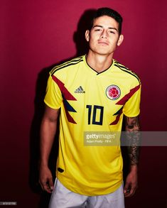 James Rodriguez of Colombia poses for a portrait during the official FIFA World Cup 2018 portrait session at Kazan Ski Resort on June 2018 in Kazan, Russia. (Photo by Adam Pretty - FIFA/FIFA via Getty Images) World Cup Russia 2018, World Cup 2018, Fifa World Cup, James Rodriguez Colombia, James Rodrigues, James 10, Latin Men, Club America, Poses