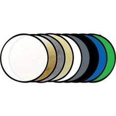 Savage 43 Round Photo Reflector Kit with Stand Studio Lighting Setups, Improve Photography, Green Screen Backgrounds, Studio Equipment, Backdrop Stand, Photo Lighting, Savage, Backdrops, Blue Green
