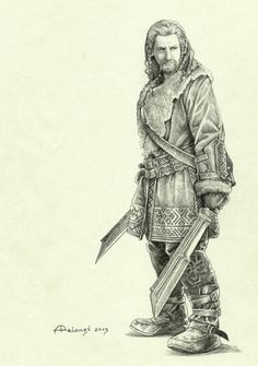 """""""Can't wait to see The Hobbit: The Desolation of Smaug, so I try to keep calm drawing all its characters… here's the wonderful Dean O'Gorman as Fili. Lovely blond, isn't he?"""""""