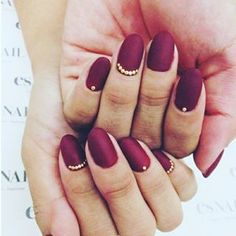 This velvety red feels like an October sunset: | 18 Glorious Nail Art Designs For Fall