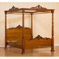 4 poster canopy bed antique mahogany bed from solid mahogany wood with lincoln style bed frame looks attractive and beautiful with natural brown finishing