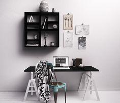 desk for architect? not neccesary. desk and shelf by nobo design