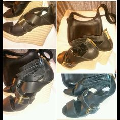 Pour La Victoire Leather Wedge. Fairly New...