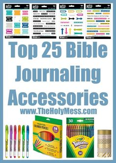 Top 25 Bible Journaling Accessories. These are the top rated Bible journaling supplies. Excellent as gifts.