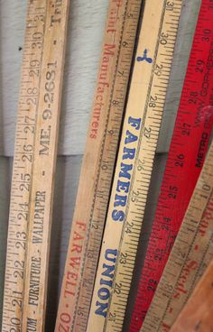 vintage yardstick- Itsy Bits And Pieces