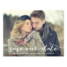Love Note   Save the Date Postcard