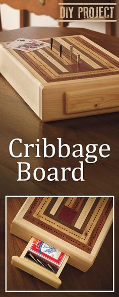 Plans of Woodworking Diy Projects - This DIY Cribbage Board will become a sentimental addition to your family game nights! Get A Lifetime Of Project Ideas & Inspiration! Wooden Board Games, Wood Games, Cribbage Board, Woodworking Toys, Easy Woodworking Projects, Woodworking Furniture, Ana White, Cnc Projects, Home Projects