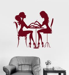 Vinyl Wall Decal Beauty Salon Nail Hair Spa for Woman Girl Stickers (ig3123)