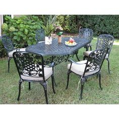 Cast Aluminum Lawn furniture sets are both beautiful and elegant to have in your backyard. This furniture is both sturdy and easy to maintain.  If you thinking about replacing your outdoor patio furniture this year because your current patio set or picnic table are in desperate need of replacing, then look no further as I have included some patio sets that you may want to consider.  When you see this patio furniture you won't be surprised why so many people want this