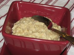 Five Little Peaches (name of blog) - oatmeal with egg for more protein