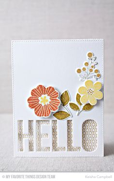 Big Hello Die-namics, Bold Blooms Stamp Set and Die-namics, Lined Up Dots Background - Keisha Campbell  #mftstamps