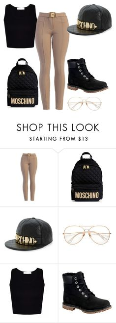 """""""Untitled #556"""" by adoreme02 ❤ liked on Polyvore featuring Moschino and Timberland"""