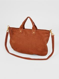 Couverture and The Garbstore - Womens - Clare V - Cognac Messenger Bag
