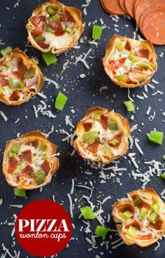 Pizza Wonton Cups -
