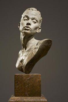 """Katherine Bust - Bronze 22.86 x 38.1 x 22.86 cm (9"""" x 15"""" x 9"""")"""