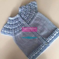 This Pin was discovered by Gün Baby Knitting Patterns, Baby Clothes Patterns, Baby Patterns, Clothing Patterns, Spool Knitting, Knitting For Kids, Bebe Baby, Moda Emo, Baby Vest