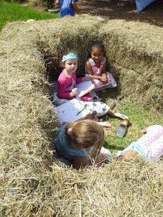 let the children play: Simple Play Space Transformations #5: A bale of Hay A child sized space