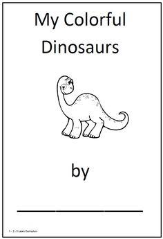 dinosaur theme for preschool | have added a my colorful dinosaurs book under the theme dinosaurs ...