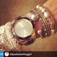 "silpadadesigns: ""Arm candy of the day! So chic, @silpadasterlinggirl! #repost #SilpadaStyle"""