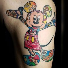 Disney movie mickey.. @kustomthrills #disneytattoo #mickeymouse #bold #bright_and_bold #nashville #disney