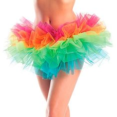 Layered Organza Tutu Rainbow O/S >>> Be sure to check out this awesome product.(It is Amazon affiliate link) #BrasForHer