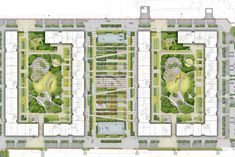 A landscape-led masterplan to transform an existing brownfield site in Moscow, Russia, into a new vibrant neighbourhood for people, providing much-needed Public Architecture, Concept Architecture, Landscape Architecture, Architecture Diagrams, Architecture Portfolio, Landscape Concept, Contemporary Landscape, Park Landscape, Landscape Design
