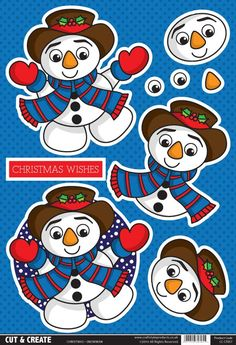 Buzzcraft Christmas Cut & Create - Snowman