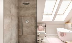 Kitchen fitters Bristol, we supply and install designer, traditional and modern kitchens to homes in Bristol and Bath, 30 years experience, best quotes always from your local Bristol kitchen company. Master Bath Layout, Concrete Shower, Cement Tiles, Kitchen Fitters, Painting Tile Floors, Open Showers, Tiles For Sale, Pink Tiles, Attic Bathroom