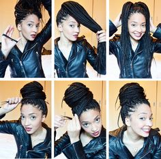 Remember after Beyonce gave birth to Blue Ivy and rocked that box braids bun? Of course you do. In memory of that style, French beauty blogger Priscilla from Mercredie created this box braids hairstyle. Now all that's keeping you from being as flawless as Bey is a stretchy headband and some bobby pins.