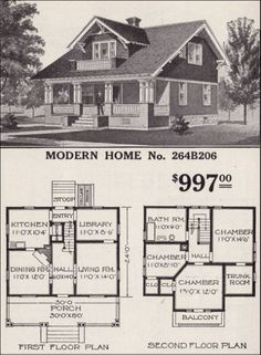 The Plan, How To Plan, Craftsman Style Bungalow, Craftsman Bungalows, Bungalow Homes Plans, Craftsman Homes, Br House, Sims House, Sears Catalog Homes