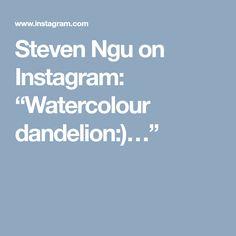 """Steven Ngu on Instagram: """"Watercolour dandelion:)…"""""""