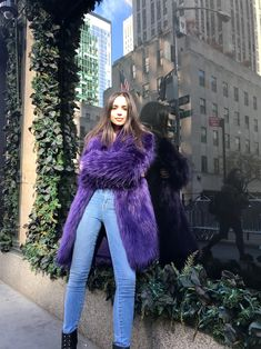 Go Behind the Scenes with Sofia Carson as She Unveils Saks Fifth Avenue's Holiday Windows - Good morning from N.Y.C! from InStyle.com