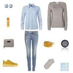 Casual Outfit: Revival blaue Bluse. Mehr zum Outfit unter: http://www.3compliments.de/klassiker-revival-2015-01-19#outfit2