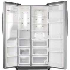 Samsung 24.5 cu. ft. Side by Side Refrigerator in Stainless Steel-RS25H5121SR at The Home Depot