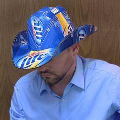 9a9695a5c0f Miller Lite Beer Box Cowboy Hat Cowboy Hat Crafts