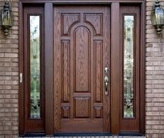 Modern 100 Wooden front door designs catalogue 2019 for modern homes main doors Door Design Interior, Door Gate Design, Fiberglass Entry Doors, Wooden Main Door Design, House Main Door, Fiberglass Door, House Front Design, Front Door Design