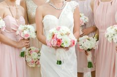 pink, white and a dash of gold  Photography by carolinejoy.com, Floral Design by http://petalsbydesign.us