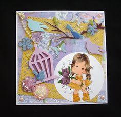 Márcia - cartões: Tilda Fantasy Flower