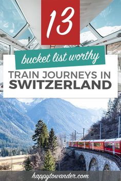 One of the best things to do in Switzerland is travel by train! This guide gives you amazing Switzerland travel tips, with stunning ideas for your Switzerland travel itinerary, including scenic train rides going between big Switzerland cities like Lucerne, Zurich, Bern, Lauterbrunnen and more. Great ideas for a Switzerland honeymoon! #switzerland #travel #traintravel European Destination, European Travel, Europe Travel Tips, Travel Advice, Travel Guides, Train Travel, Scenic Train Rides, Switzerland Cities, Europe Bucket List