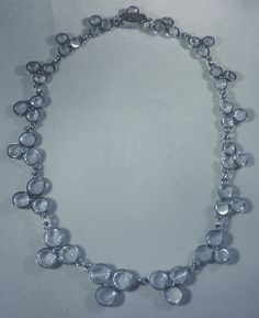 vintage moonstone jewelry | Stunning Antique Moonstone Necklace set in Silver at 1stdibs