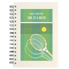 Personalised tennis notebook