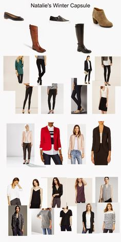 Natalie's Winter Capsule Wardrobe overview